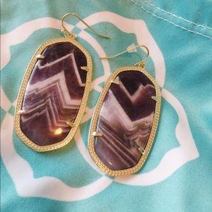 chevron amethyst danielle earrings